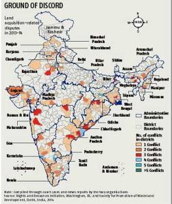 Land acquisition-related disputes in India, 2013-2014. Photo accessed from http://bsmedia.business-standard.com/_media/bs/img/article/2014-12/31/full/1419975499-0158.jpg