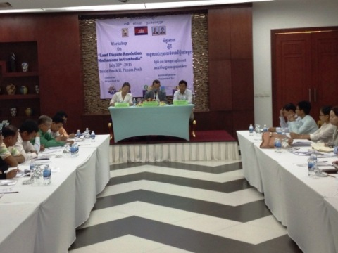 Workshop on Land Conflict Resolution Mechanisms in Phnom Penh. Photo by Star Kampuchea.