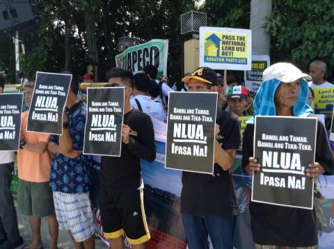 Land use advocates amassed in the Senate to demand the release of NLUA committee report.  Photo by CLUP Now!