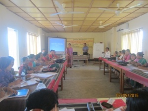 Women Headmen of CHT are participated in the training course on leadership development.  Photo by ALRD.