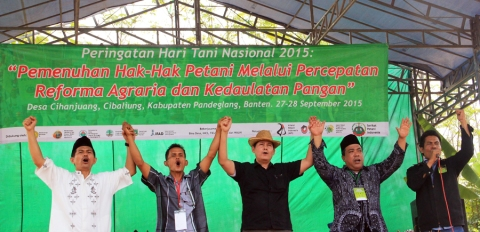 During the Commemoration of National Peasants' Day 2015. Photo by www.spi.or.id