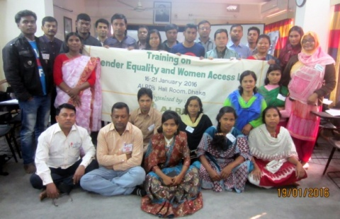 "Participants of the training on ""Gender Equality and Women's Access to Land."" Photo by ALRD."