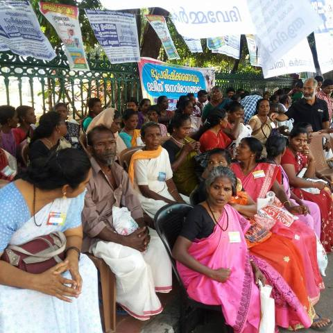 Adivasis and Dalits of Arippa in India protest for their land rights. Photo by Ekta Parishad.