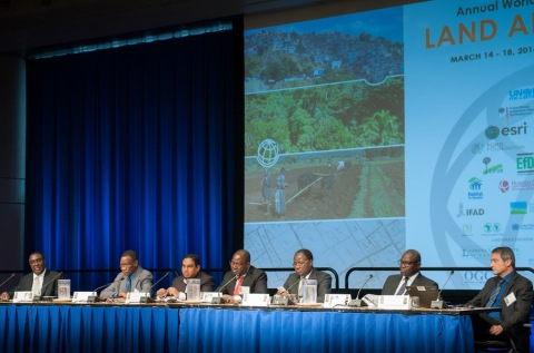 The panel of the 17th World Bank Conference. Photo by Nataliya Makarenko. Photo retrieved from the World Bank Website.