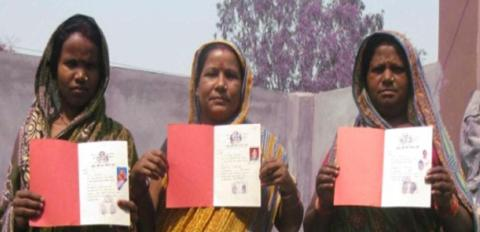 New Village Block Land Certificate holders. Photo by CSRC.