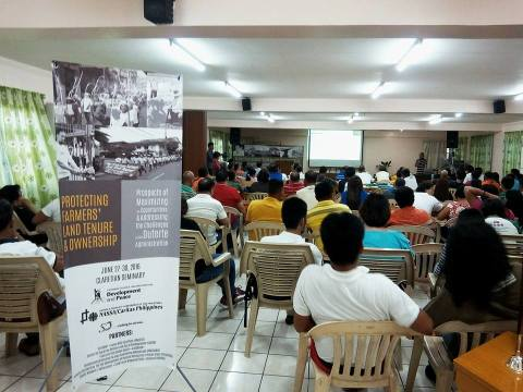 Participants of the conference on agrarian reform. Photo by KAISAHAN.